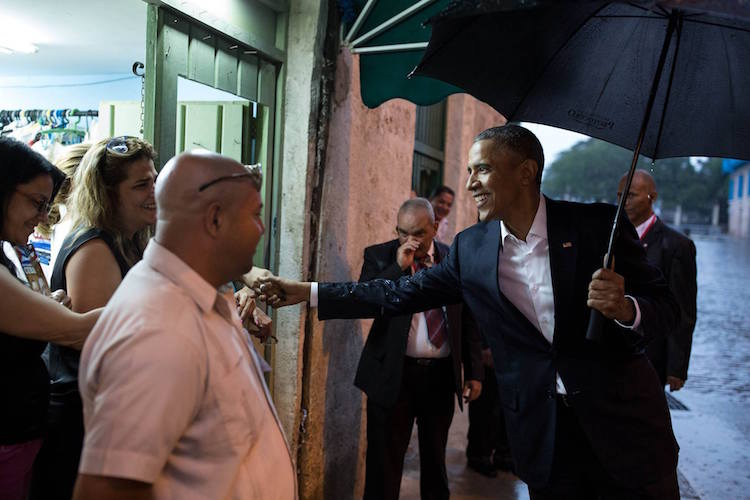 Photo: President Obama greets people in Old Havana, Cuba, March 20, 2016. (Official White House Photo by Pete Souza)