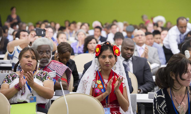 Photo: UN Permanent Forum on Indigenous Issues opens its 2014 session at UN Headquarters. UN Photo/Eskinder Debebe