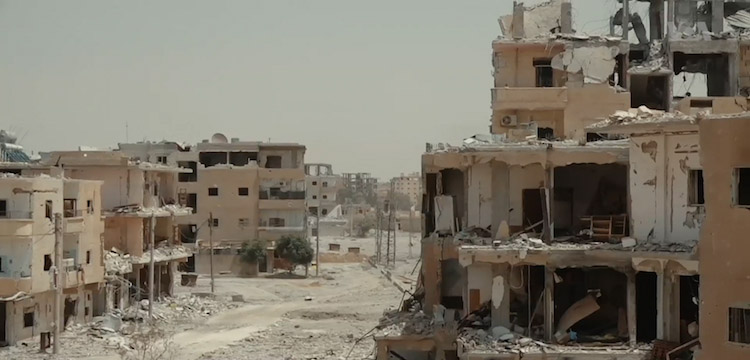 Photo: Much of Raqqa has suffered extensive damage during the battle of Raqqa in June–October 2017. Credit: Wikimedia Commons.