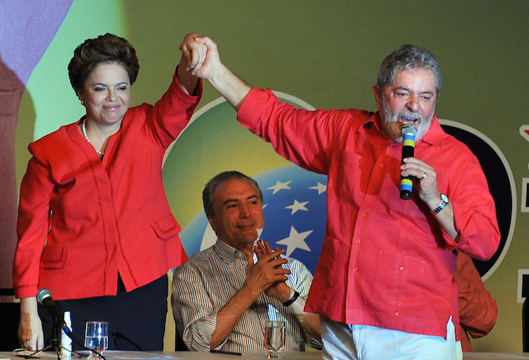 Photo: Dilma Rousseff with Lula during the 2010 presidential campaign. Credit: Wikimedia Commons