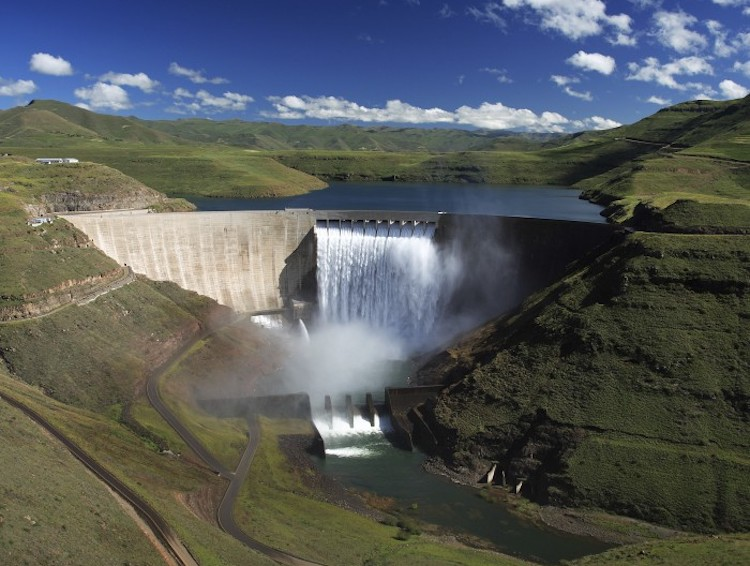 Photo: Katse Dam, one of Lesotho Highlands Water Project funded with foreign aid. Credit: Ntsoaki Nkoe | IDN-INPS