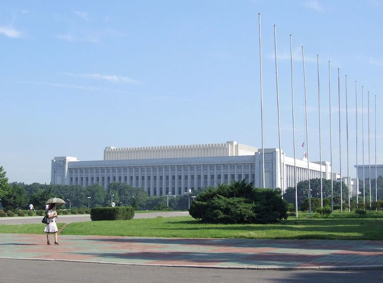 Photo: Mansudae Assembly Hall, seat of the Supreme People's Assembly. Credit: Wikimedia Commons