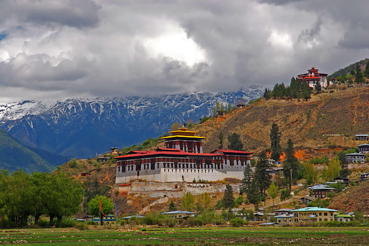 Photo: The Dzong in the Paro valley, built in 1646. Credit: Wikimedia Commons.