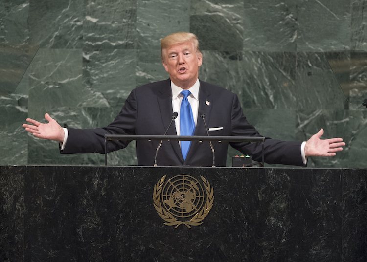 Photo: U.S. President Donald J. Trump, addresses the 72nd General Assembly's annual general debate 19 September 2017. Credit: UN Photo/Cia Pak