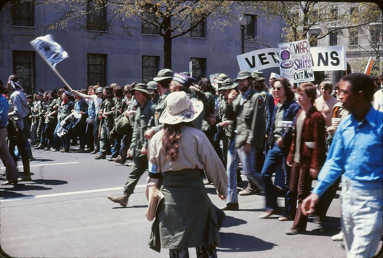 Photo: Anti-war protest against the Vietnam War in Washington, D.C. on April 24, 1971. The Vietnam War had already been going on for a number of years when President Lyndon Johnson decided he wanted to ratchet up the fighting. In August 1964 a fictitious event was manufactured. Credit: Wikimedia Commons.
