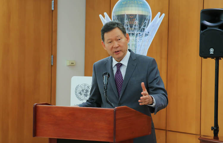 Photo: Ambassador Kairat Umarov, Permanent Representative of Kazakhstan to the UN in New York. Credit: Kazakh Permanent Mission to the UN.
