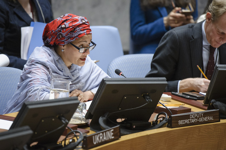 Photo: UN Deputy Secretary-General Amina Mohammed addressing the Security Council. Credit: UN Photo/Manuel Elias.