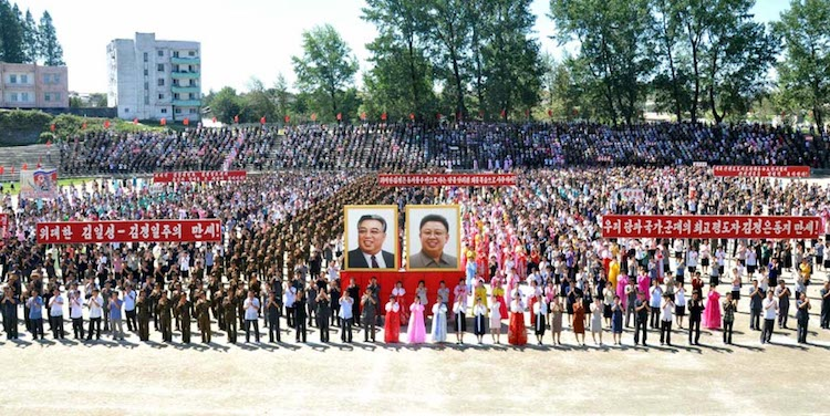 Photo: Army-People Rallies Hail Success in H-bomb Test. Credit: The Rodong Sinmun.