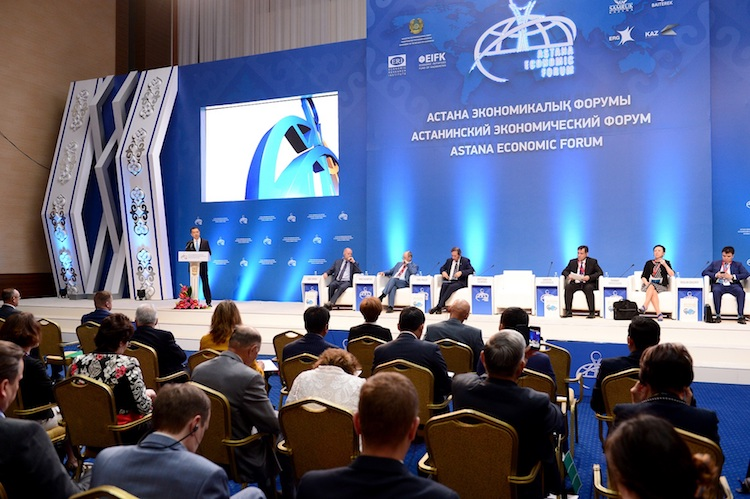 Photo: A session of the Astana Economic Forum with the Kazakh Prime Minister. Credit: The Astana Times | primeminister.kz