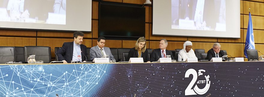 Panel discussion on Roles, Responsibilities and Challenges Maintaining the IMS Verification System | Credit: CTBTO