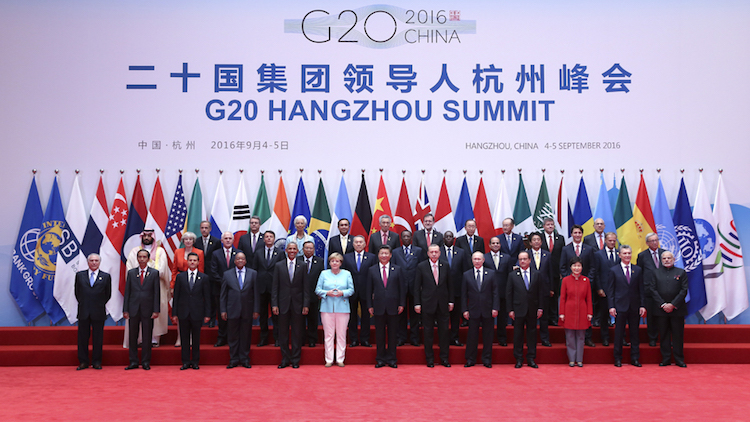 Photo: Heads of government and state at the G20 Summit in Hangzhou, China, on 4 September 2016. Credit: www.g20chn.org.