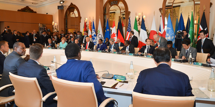 Photo: African leaders and heads of international organizations as well as the UN Secretary-General joined G7 heads of state and government on May 27, the concluding day of the Summit. Credit: G7 Italy.