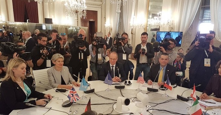 Photo: UNESCO Director-General, Irina Bokova (second from left), participated in the first ever G7 Culture Ministers' meeting held on 30 and 31 of March 2017 in Florence, Italy. Credit: UNESCO.