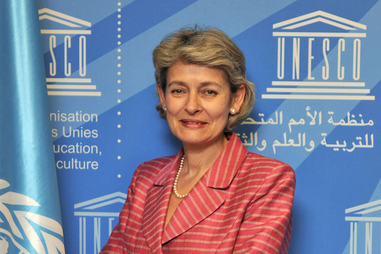 Photo: UNESCO DG Irina Bokova. Credit; UNESCO