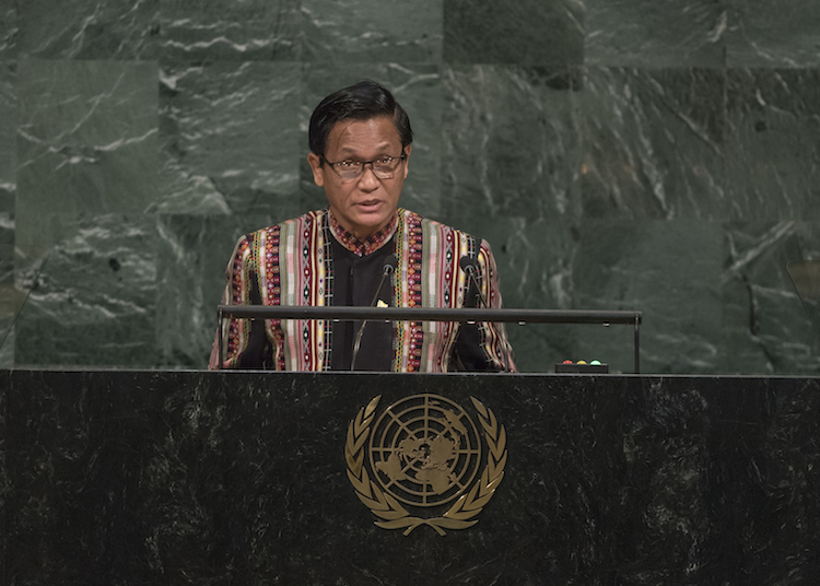 Photo: Henry Van Thio, Vice President of the Republic of the Union of Myanmar, addresses the general debate of the General Assembly's 72nd session on 20 September 2017 in New York. Credit: UN Photo/Cia Pak