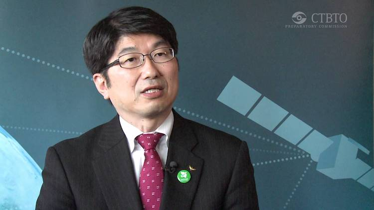 Photo: Nagasaki Mayor Tomihisa Taue CTBTO YouTube interview in July 2012.
