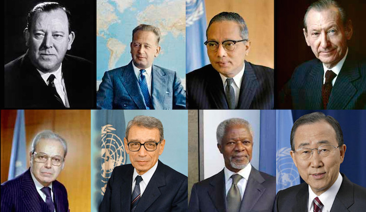 Eight UN Secretaries-General. Credit: UNSG LIKE ME