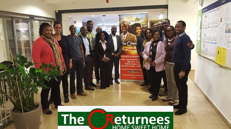 Photo: Returnees pose for the press at the Cameroon Diaspora Forum organised by the Cameroon government from June 26 to 30. Credit:  Ngala Killian Chimtom
