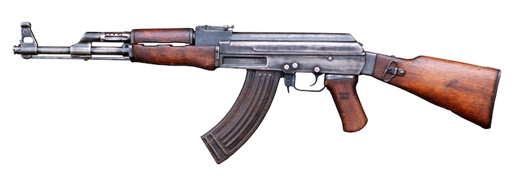 Photo: The AK-47, the most ubiquitous automatic weapon in the world. Credit: Wikimedia Commons.