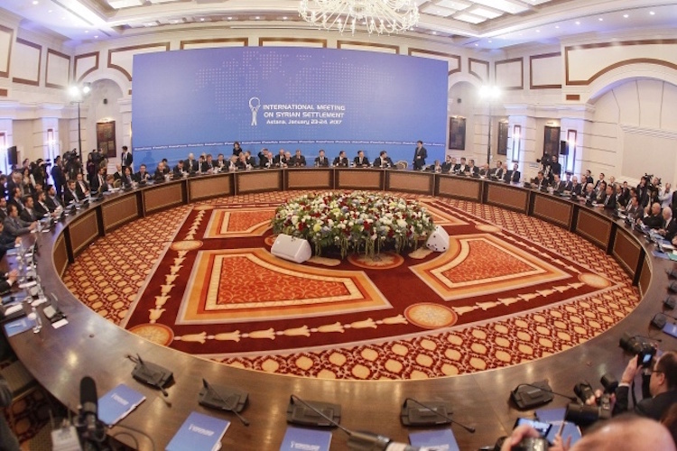 Photo: International Meeting on Syrian Settlement. Credit: Kazakh Foreign Ministry.