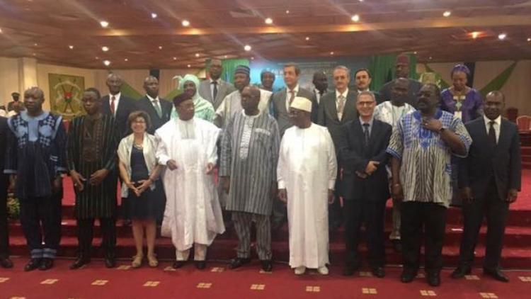 Photo: African ministers at the global observance of the World Day to Combat Desertification in Burkina Faso.